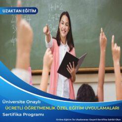 ücretli öğretmenlik özel eğitim sertifikası