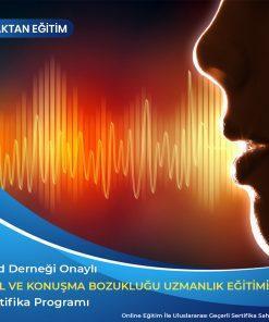 Dil ve Konuşma Bozuklukları uzmanlık sertifikası