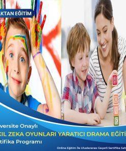 akıl zeka oyunları eğitmenliği sertifikası, yaratıcı drama eğitmenliği sertifikası
