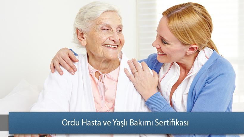 Ordu Hasta ve Yaşlı Bakımı Sertifikası