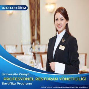 profesyonel restoran yöneticiliği sertifikası