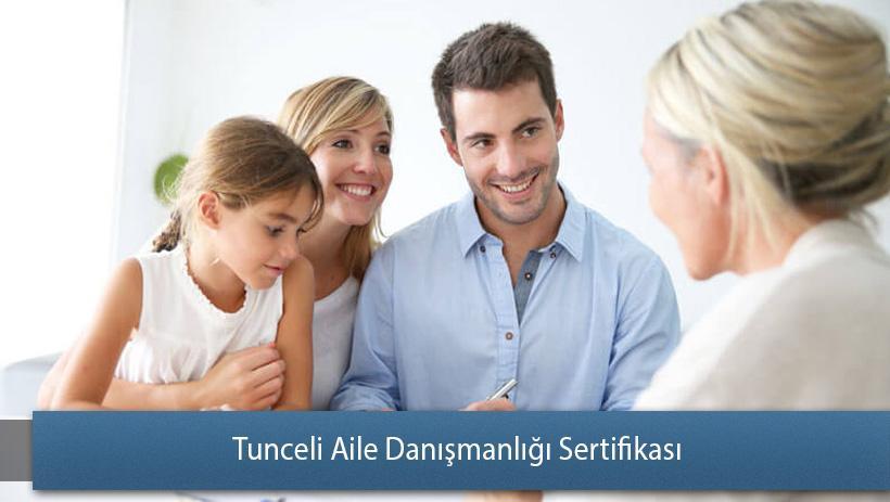 Tunceli Aile Danışmanlığı Sertifikası